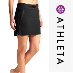 Athleta S Black Stretch in Skort high low travel